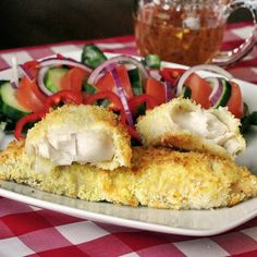 Chili Lime Coconut Tilapia - baked fish with a coconut crust served with a honey chili lime drizzle. Yum!