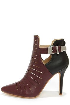 dd5adeb928ad Anne Michelle Momentum 99 Oxblood Pointed Toe Booties at Lulus.com! Kinds  Of Shoes