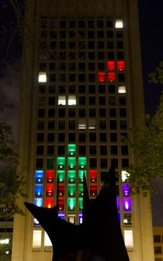 MIT plays Tetris on one of their buildings. Hacks like this qualify as Intermedia in my book.