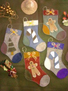 Botitas navideñas. Para ir planeando los adornos de Navidad 2014 con tiempo.