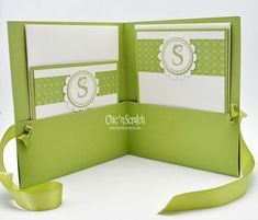 Inside of Card Portfolio with Monogrammed Notecards