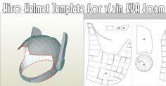 Hiro Helmet Template EVA foam