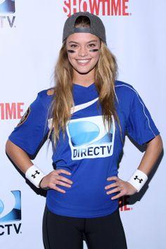 Nina Agdal Participate DirecTV Celebrity Beach Bowl in NYC (Feb.1, 2014)