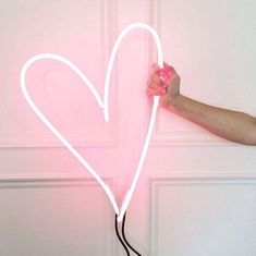 neon | pink heart sign