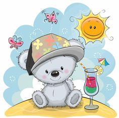 Teddy Bear Cartoon, Cute Teddy Bears, Cute Cartoon, Cartoon Drawings Of Animals, Cartoon Girl Drawing, Teddy Bear Outline, Disney Cartoon Characters, Christmas Teddy Bear, Baby Illustration