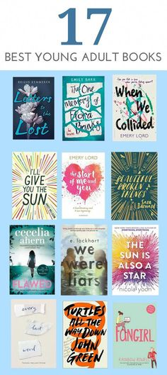 17 of the best YA books. 17 of the best YA books. Ya Books, Book Club Books, Book Nerd, Book Lists, Book Suggestions, Book Recommendations, Books To Read 2018, Good Books To Read, Romance Books