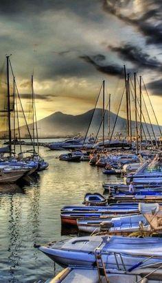 Coastal Retreat Destinations| Serafini Amelia| View of Mt. Vesuvius - Napels, Italy - 2014!