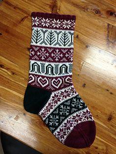 Ravelry: Holiday Stocking pattern by Jeanne Davidson