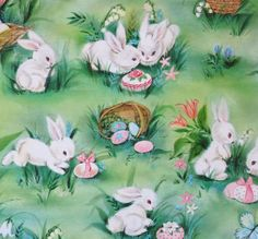 Vintage Hallmark EASTER Gift Wrap Wrapping Paper