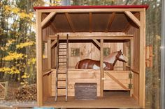 SALE Wooden Horse Stable 1:9 scale