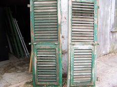 Check out our shutters selection for the very best in unique or custom, handmade pieces from our shops. Vintage Shutters, Old Shutters, Vintage Doors, Window Shutters, Architectural Salvage, Architectural Elements, Research Images, Diy Room Divider, Shutter Doors