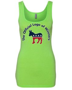The Official Logo of Winners Tank Top USA Democratic Party Donkey Sleeveless