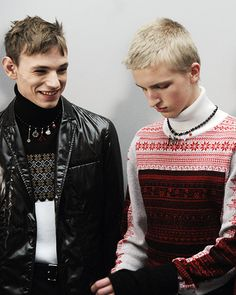 Gabe Curry & Johan Kroon by Elise Toïdé - Backstage at Dior Homme FW16