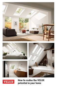 What is the VELUX potential? It's when any project, big or small, is transformed with more natural daylight, more fresh air and more inspiration, when you choose VELUX roof windows. From extensions and lofts to hallways and bathrooms, find out how we can help you realise your home's full potential. Discover the VELUX potential in your home at www.velux.co.uk