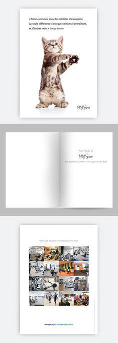 Création de la carte de voeux 2016 pour la société MMSport.
