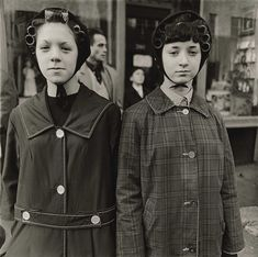 Diane Arbus (1923–1971) … Two Girls in Curlers … NYC … 1963