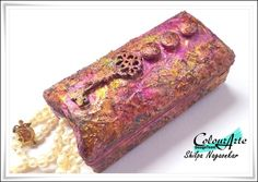 Neon Diary: Mixed Media Jewelry Box with Colour Arte