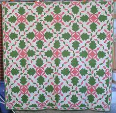 Outstanding 1880's Antique Oak Leaf Quilt Great Border | eBay
