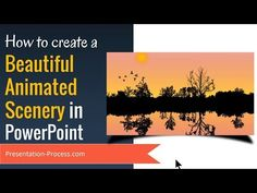In this advanced PowerPoint tutorial, you will find How to Create Beautiful Animated PowerPoint Scenery. The scenery involves sun rising in the background, a. Powerpoint Tutorial, Powerpoint Tips, Powerpoint Design Templates, Microsoft Powerpoint, Computer Help, Computer Programming, Computer Tips, Computer Projects, Presentation Video