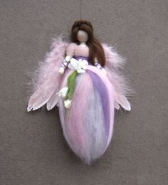 Needle Felted Wool Fairy Doll  Angel Fairies Soft by Holichsmir, $26.00 -- love the braided hair crown