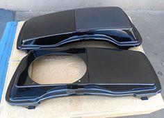 Vivid Black Single Speaker Lids with Grills for Harley-Davidson Touring Models 1994-2013  New Vivid Black Single Speaker Lids with Grills (Grills are unpainted) New Vivid Black Single Speaker Lids with Grills (Grills are unpainted) Includes: Both Left and Right Vivid Black Single Speaker Lids New Vivid Black Single Speaker Lids with Grills (Grills are unpainted) New Vivid Black Single Speaker Lids with Grills (Grills are unpainted) Includes: Both Left and Right Vivid Black Single Spe..