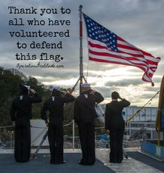 Thank you to all who have volunteered to defend this flag. (U.S. Navy photo by Mass Communication Specialist 3rd Class Chris Cavagnaro. Used with permission.)