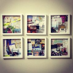 I'm a bit obbessed with shadow boxes atm, they are a great way to craft the many travel mementos you acquire