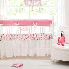 Pink Crib Rail Cover Set | Urban Flamingo Collection