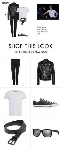 """Danny Zuko"" by phoenix-fashion ❤ liked on Polyvore featuring Dsquared2, Criminal Damage, Oliver Spencer, Converse, COSTUME NATIONAL, Ray-Ban, John Hardy, men's fashion, menswear and Grease"
