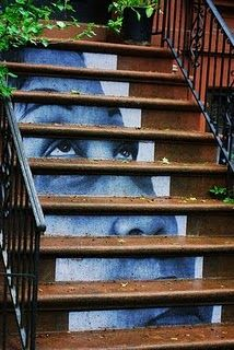 "Inspired by outdoor ads - #street_art by JR The Artist - ""Inside Out Project"" #brooklyn"
