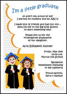 Preschool little tyke graduation commencement announcements and
