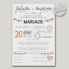 Share wedding theme pennants - to print yourself Wedding Paper, Wedding Cards, Diy Wedding, Dream Wedding, Wedding Day, Punk Rock Wedding, Wedding Stationery, Wedding Invitations, French Wedding