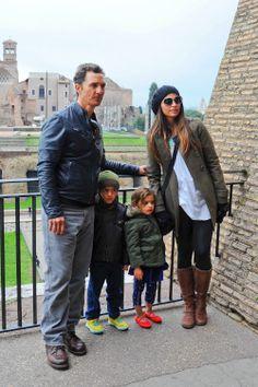 Matthew McConaughey & Family: Roman Holiday