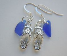 Hey, I found this really awesome Etsy listing at https://www.etsy.com/listing/222643322/flip-flop-dangle-earrings-sea-glass-blue