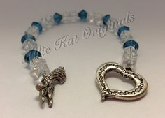 Blue Swarovski and clear glass beaded bracelet. On Etsy https://www.etsy.com/your/listings?ref=si_your_shop