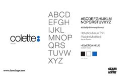 Colette - Helvetica Neue Thin e Helvetica Neue Fashion Typography, Typography Logo, Fashion Branding, Lettering, Fashion Fonts, Font Logo, Logo Type, 3d Logo, Typographic Design