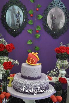 Amazing cake at a Descendants birthday party! See more party ideas at CatchMyParty.com!