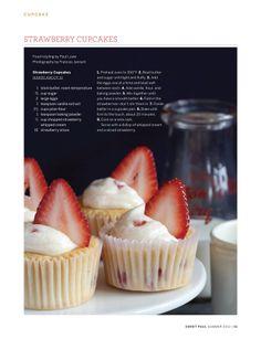 Strawberry Cupcakes | Sweet Paul Magazine - Summer 2012