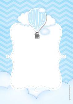 Airballoon Baby Shower invitation by glitterinvitescy on Etsy Scrapbook Bebe, Baby Boy Scrapbook, Babyshower Party, Balloon Invitation, Shower Invitation, Baby Shower Souvenirs, Baby Frame, Baby Shower Invitaciones, Baby Boy Birthday
