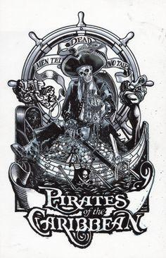 Disney's Pirates of the Caribbean  Dead Men  Print Comic Art
