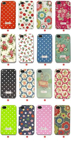 Cath Kidston iphone covers!