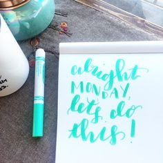"""291:: """"Alright Monday let's do this"""" //  #emletters #lettereveryday"""