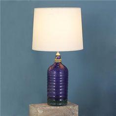 Vintage Deep Purple Seltzer Bottle Table Lamp