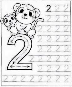New System-Suitable Numbers Line Study - Preschool Children Akctivitiys Preschool Writing, Numbers Preschool, Preschool Learning Activities, Math Numbers, Kindergarten Worksheets, Worksheets For Kids, Teaching Kids, Kids Learning, Math For Kids