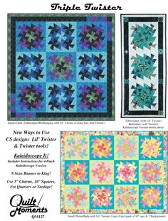 Moda... the Cutting Table: Quilt Moments : Triple Twister pattern (QM127) using Twister Tool