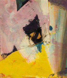 """The final test of a painting, theirs, mine, any other, is: do the painter's emotions come across?"" - Franz Kline (Black Angle with Yellow, 1959, Oil on paper collage mounted on canvas)"