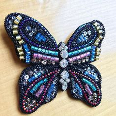 Beaded jewelry butterfly