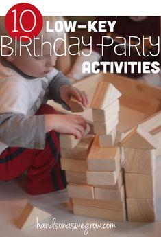 10 Low-Key Birthday Party Activities for Kids - Doing activities during birthday parties don't have to be stressful!