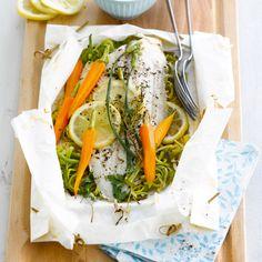 Découvrez la recette de la papillote de sole aux légumes