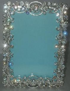 loops swirls filigree crystal rhinestone picture frame 4